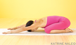 Child's pose. (Image from yogajournal.com)